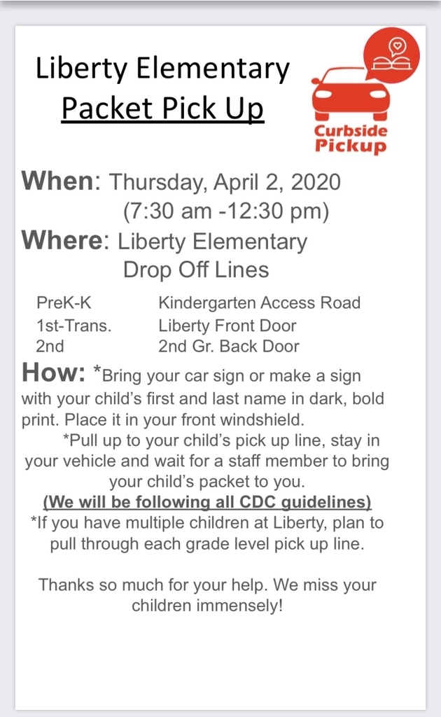 Liberty Elementary Packet Pick Up